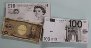 ポンドとユーロ、円