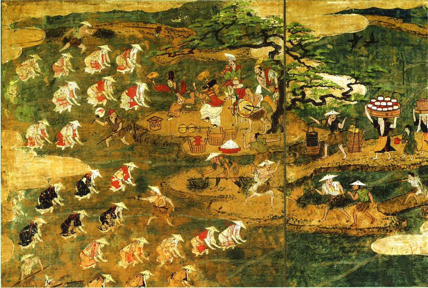 『月次風俗図屏風』16世紀