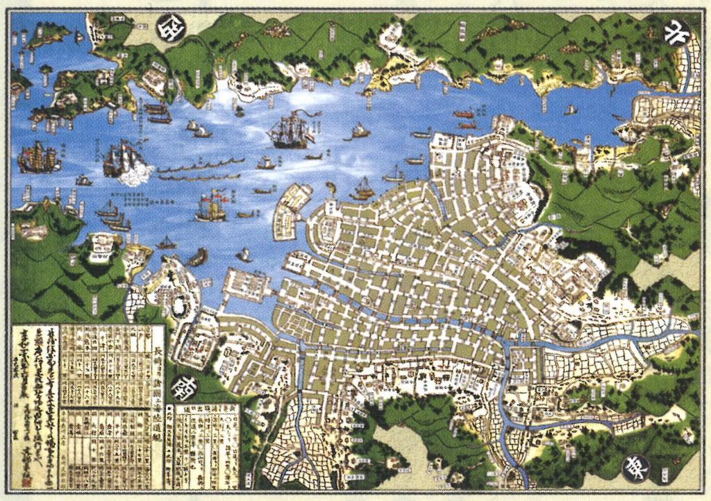 長崎版画享和二年肥州長崎図