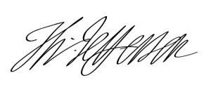 トマス・ジェファーソンのサイン